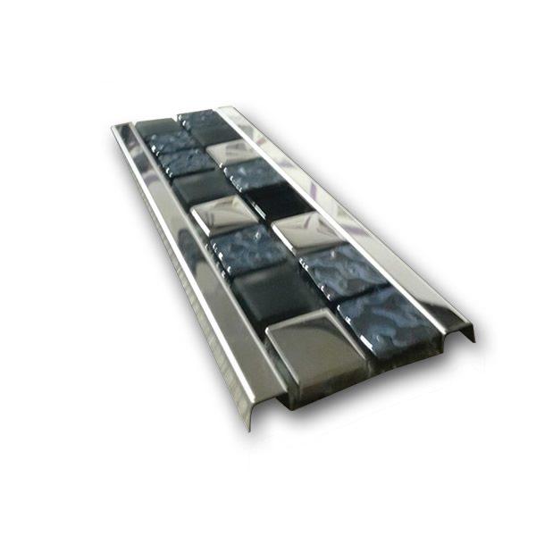 Cam Mozaik Taşlı Dekoratif Bordür Profili (7.5 cm)